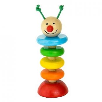 Dřevěná Housenka na gumě