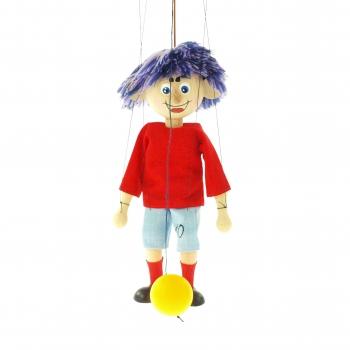 Loutka fotbalista červeno-modrý