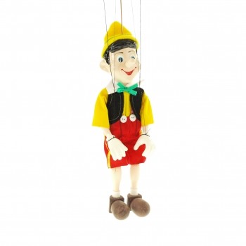 Loutka Pinocchio velký sádra+dřevo