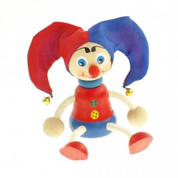 Panáček - kašpárek červeno-modrý