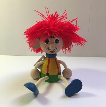 Panáček vlasatec s červenými vlasy