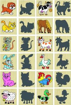 Pexeso zvířata a jejich stíny