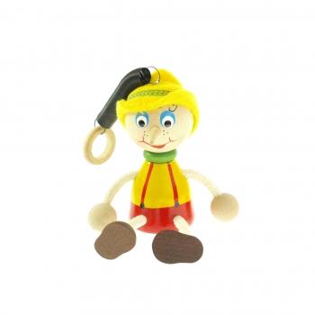 Pinocchio s kloboukem na pružině