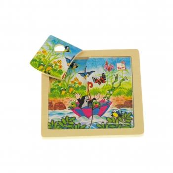 Puzzle - Krtek s deštníkem, 4 díly