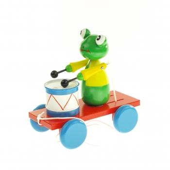 Tahací žába s bubnem