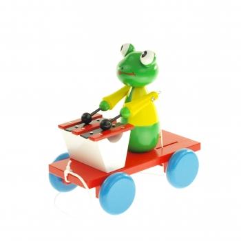 Tahací žába s xylofonem