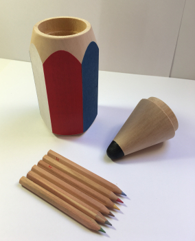 Tužka s pastelkami malá-barevná