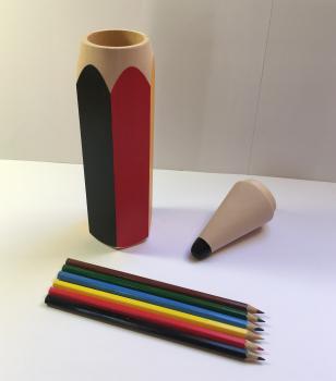 Tužka s pastelkami velká- barevná
